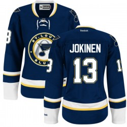 Women's Authentic St. Louis Blues Olli Jokinen Royal Blue Alternate Official Reebok Jersey