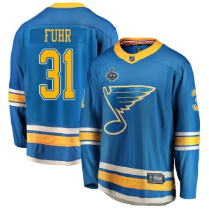 Adult Breakaway St. Louis Blues Grant Fuhr Blue Alternate 2019 Stanley Cup Final Bound Official Fanatics Branded Jersey
